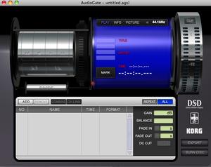 KORGフリー DSD変換ソフト 「AUDIO GATE 」